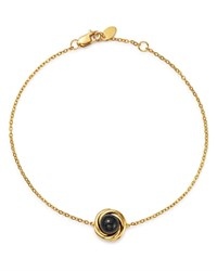 Bloomingdale's Onyx Swirl Station Bracelet In 14K Yellow Gold 100 Exclusive Black Gold