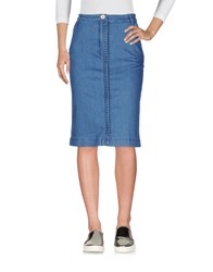Manoush Denim Skirts Blue