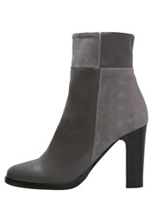 Eden High Heeled Ankle Boots Gris Grey