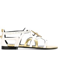 Fausto Puglisi Embellished Sandals Nude And Neutrals