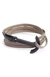 Miansai Men's Modern Anchor Leather Wrap Bracelet