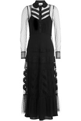 Red Valentino Tulle Dress With Point Desprit Black