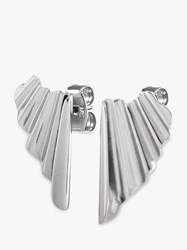 Dyrberg Kern Blida Pleated Drop Earrings Silver