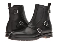 Alexander Mcqueen Monk Strap Ankle Boot Black Men's Pull On Boots
