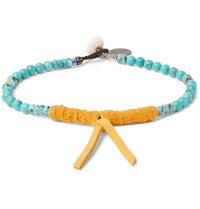 Mikia Turquoise And Suede Bracelet Turquoise