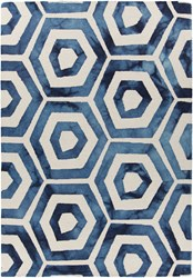 Chandra Elvo 33901 Rectangular Hand Tufted Contemporary Wool Area Rug Blue