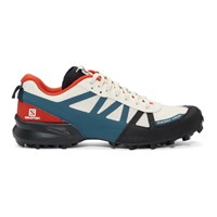 District Vision White And Blue Salomon Edition Mountain Racer Sneakers