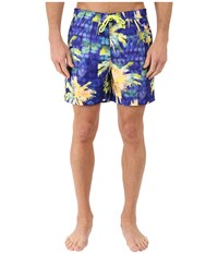 Original Penguin Psychedelic Palms Printed Fixed Volley Swim Shorts Electric Purple Men's Swimwear