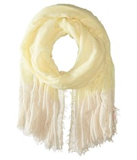 Betsey Johnson Good Vibes Crinkle Wrap With Lurex Yellow Scarves