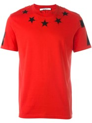 Givenchy Star Embroidered T Shirt