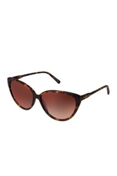 7 For All Mankind Women's Matte Dark Tort Cat Eye Sunglasses Brown