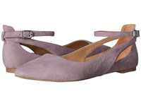 Franco Sarto Sylvia French Lilac Suede Women's Dress Flat Shoes Pink