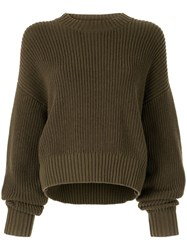 Bassike Knitted Sweatshirt Green