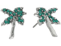 Marc Jacobs Charms Tropical Strass Palm Tree Studs Earrings Green Multi Earring