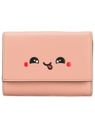 Anya Hindmarch Face Print Wallet Pink Purple