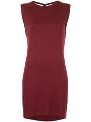 Kacey Devlin Back Cut Out Dress Red