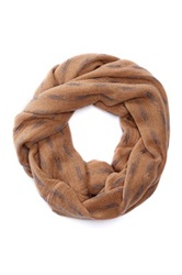 14Th And Union Patterned Infinity Scarf Gray