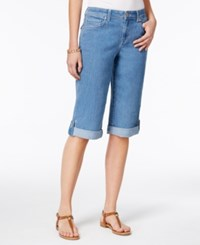 Style And Co Cuffed Bermuda Denim Shorts Light Blue Wash Only At Macy's Asbury