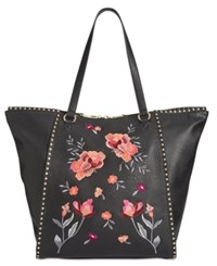 Inc International Concepts Hazell Floral Extra Large Tote Created For Macy's Black Multi