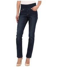 Jag Jeans Petite Peri Pull On Straight In Blue Shadow Blue Shadow Women's Jeans