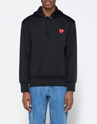 Comme Des Garcons Play Hooded Sweatshirt In Black