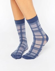 Pretty Polly Grid Stripe Sock Black
