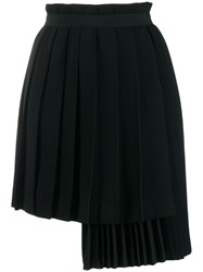 Ermanno Scervino Wrap Pleated Skirt Black