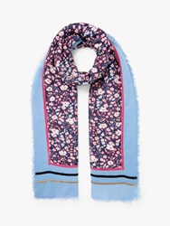 John Lewis Collection Weekend By Dara Floral Scarf Navy Mix