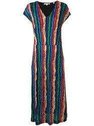 Chinti And Parker Rainbow Waves Dress Blue