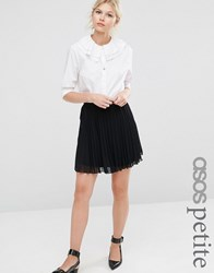 Asos Petite Pleated Mini Skirt Black