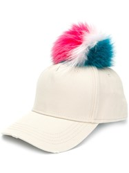 Mr And Mrs Italy Pom Pom Cap Nude And Neutrals