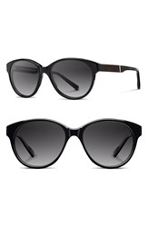 Women's Shwood 'Madison' 54Mm Polarized Sunglasses Black Ebony Grey Fade Polar