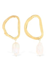 Alighieri Dante's Shadow Earrings Gold Pearl
