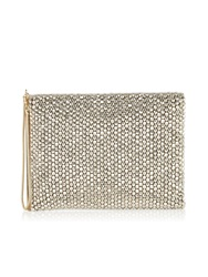 Reiss Cindy Beaded Clutch Bag Silver Silver