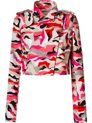 Giuliana Romanno Printed Crop Jacket