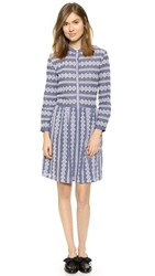 Band Of Outsiders Eyelet Shirtdress Misty Blue