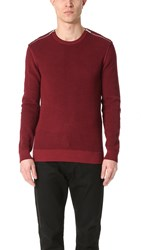 The Kooples Shoulder Zip Sweater Red
