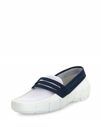 Robert Wayne Floats Mesh Rubber Yacht Loafer White