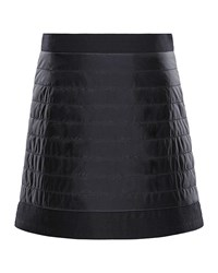 Moncler Quilted Skirt W Wool Trim Black