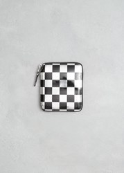 Comme Des Garcons Optical Group Wallet Silver Check