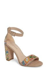 Pelle Moda Women's 'Bonnie' Ankle Strap Sandal Sand Leather