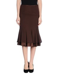 Ivan Montesi 3 4 Length Skirts Dark Brown