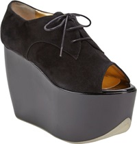 Walter Steiger Platform Wedge Oxford Black Size 10
