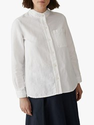Toast Seth Heavy Cotton Linen Grandad Shirt Off White