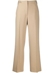 The Row High Waisted Tailored Trousers Brown
