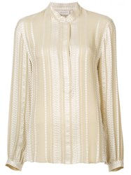 Zeus Dione Embroidered Blouse Nude And Neutrals