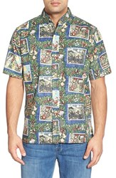 Men's Reyn Spooner 'Hawaiian Christmas' Classic Fit Wrinkle Free Sport Shirt Navy