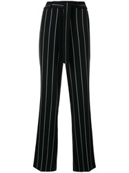 Cambio Striped Tailored Trousers Black