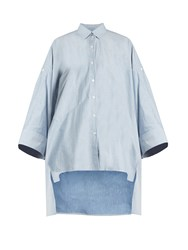 Palmer Harding Poet Chambray Shirt Light Blue