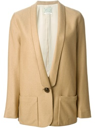 Forte Forte Single Button Blazer Nude And Neutrals